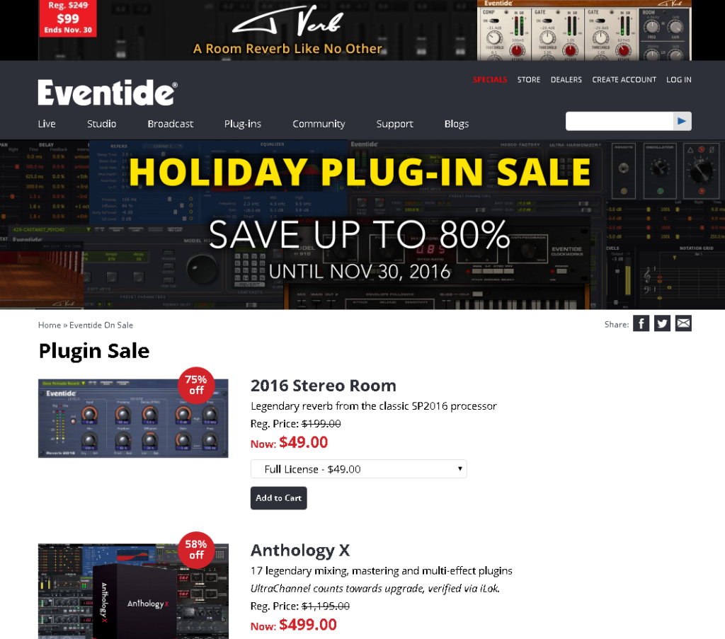 Eventide black friday sales picture